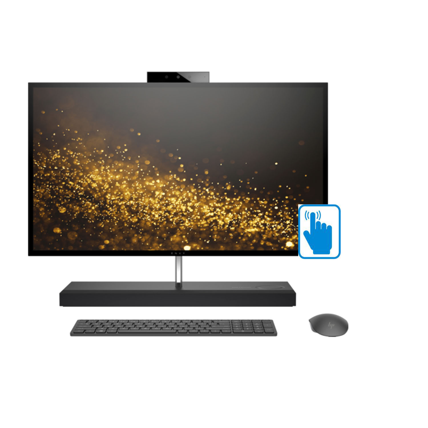 "HP ENVY 27 QHD Touch Premium Home and Business All-in-One Desktop (Intel 8th Gen i7-8700T 6-cores, 16GB RAM, 2TB HDD + 256GB PCIe SSD, 27"" QHD Touchscreen 2560x1440, GeForce GTX 1050, Win 10 Pro)"