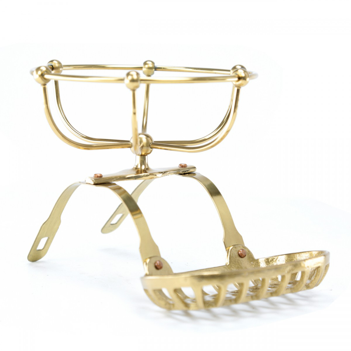 Vintage Clawfoot Tub Soap Dish Sponge Holder Brass Vintage Brass Finish