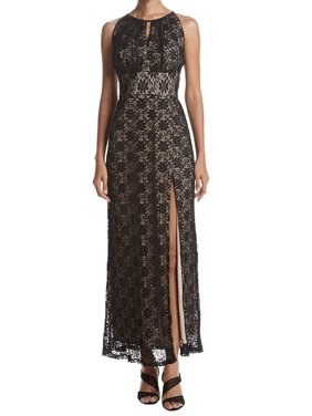 1df09801 Product Image R&M Richards NEW Black Womens Size 14 Glitter Floral-Lace  Halter Gown
