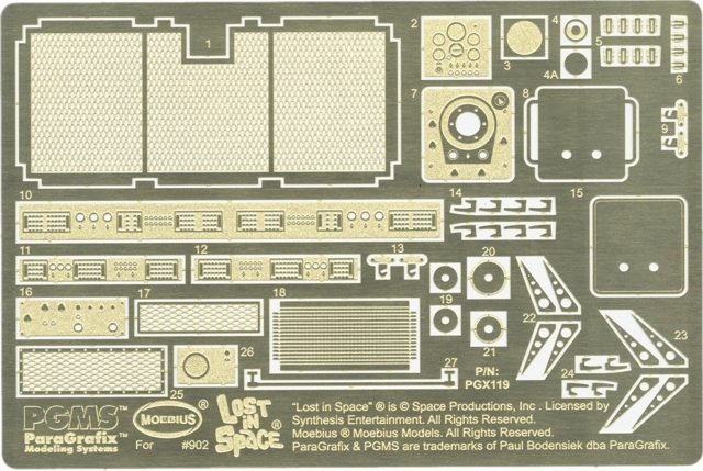 Chariot Photoetch and Decal Set 1//24 scale PGX119 Lost in Space