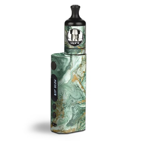 Skin Decal Vinyl Wrap for Aspire Zelos 50W starter Kit Vape stickers skins cover / Marble Paint Swirls green](Paint Swirls)