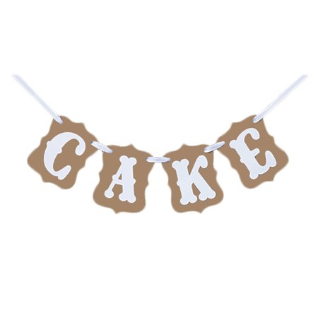 CAKE Hanging Bunting Photo Prop Banner for Birthday Party Decor](Horror Props For Sale)