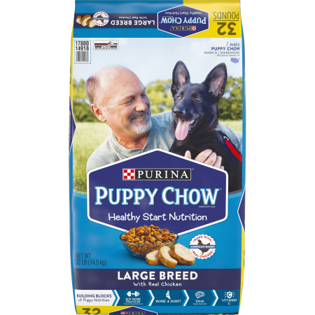 Purina Puppy Chow High Protein Large Breed Dry Puppy Food, With Real Chicken - 32 lb.