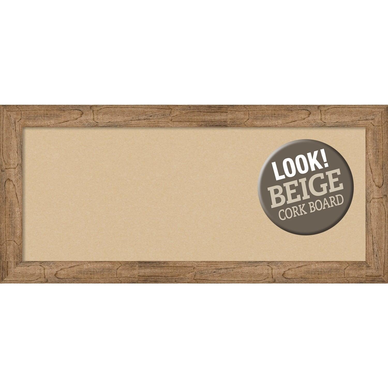 Amanti Art Owl Brown Narrow Framed Cork Board