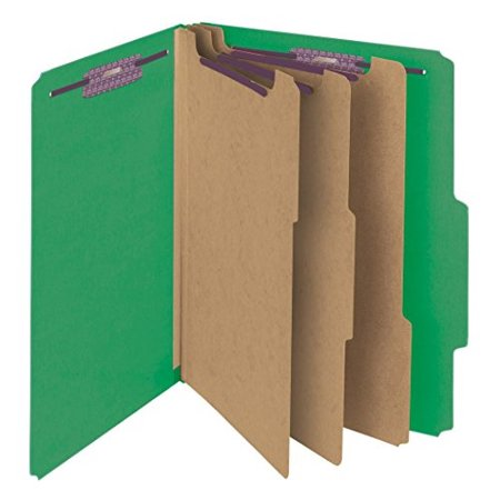Divider 3' Expansion 8 Fastener (Smead Pressboard Classification File Folder with SafeSHIELD Fasteners, 3 Dividers, 3