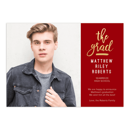 Cheap Graduation Announcements (All That Glam Graduation)
