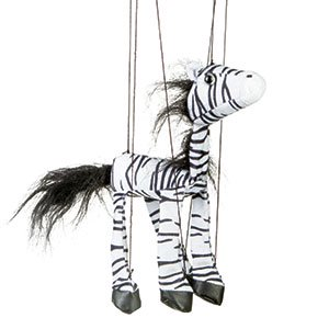 Sunny Toys WB353 16 In. Baby Zebra, Marionette Puppet Zebra Stage Puppet