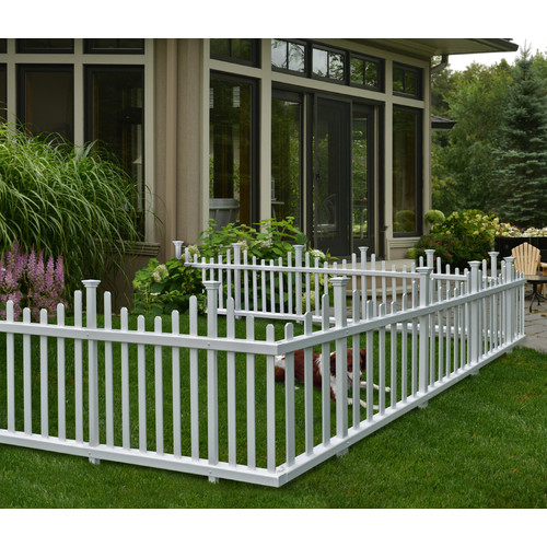 Zippity Outdoor Products 2.5 ft. H x 5 ft. W Madison No Dig Garden Fence Panel (Set of 2)