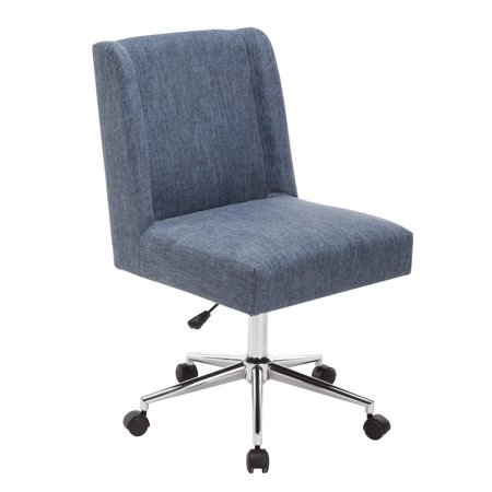 Porthos Home Office Chair The Designer Chairs With Wheels Colors Grey Cream And Blue 34 38 X 20 24 Inch