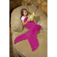 Down Home Mermaid Tail Coral Fleece Throw (Multiple Colors)