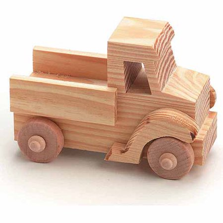 Unfinished Wood Truck: 4 x 2.75 inches