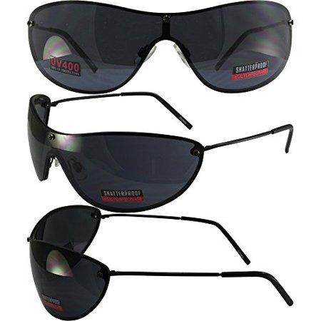 Global Vision Keeper Motorcycle Wrap-Around Sunglasses Black Metal Frames Smoke (Sunglasses Keeper)
