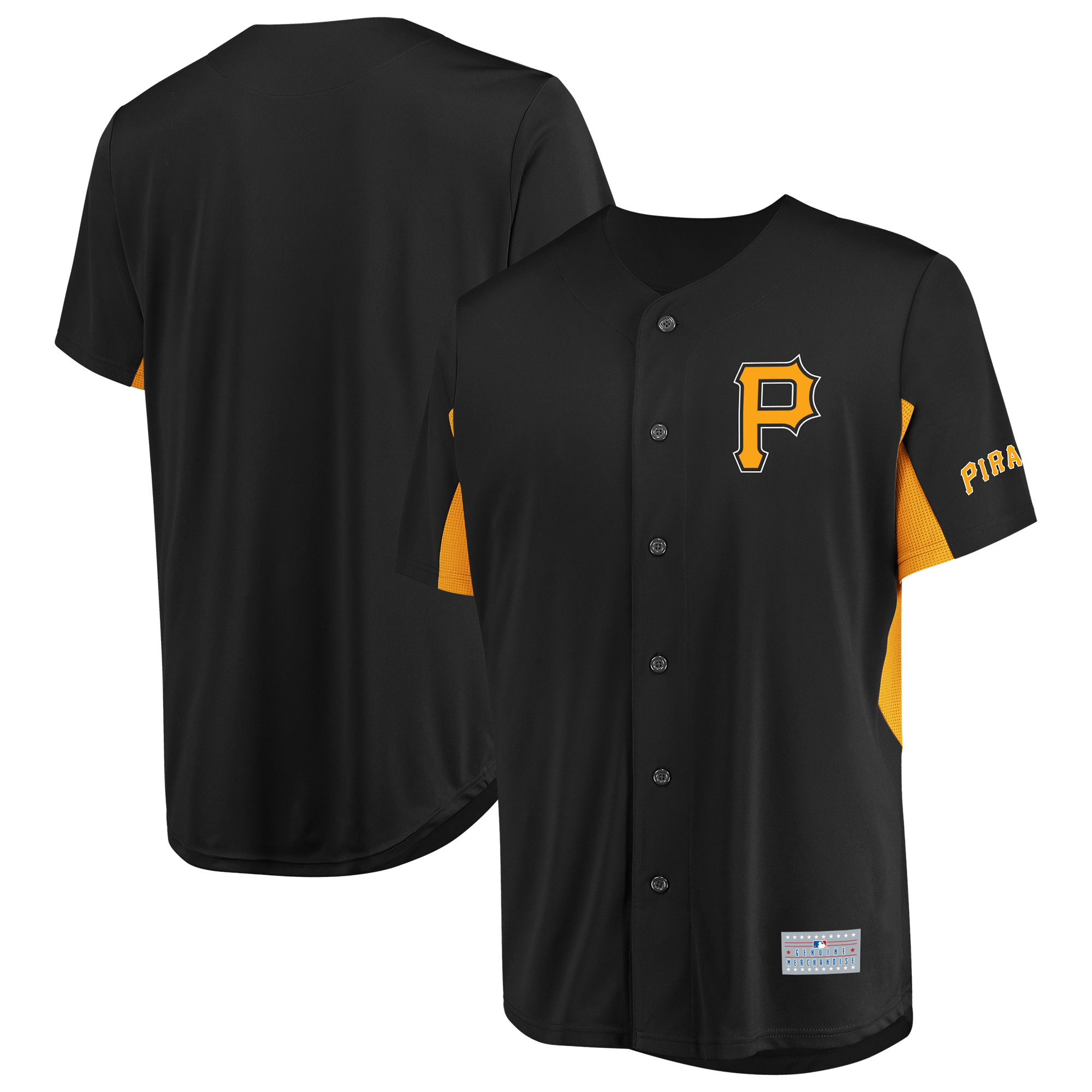 Men's Majestic Black Pittsburgh Pirates Champion Choice Jersey