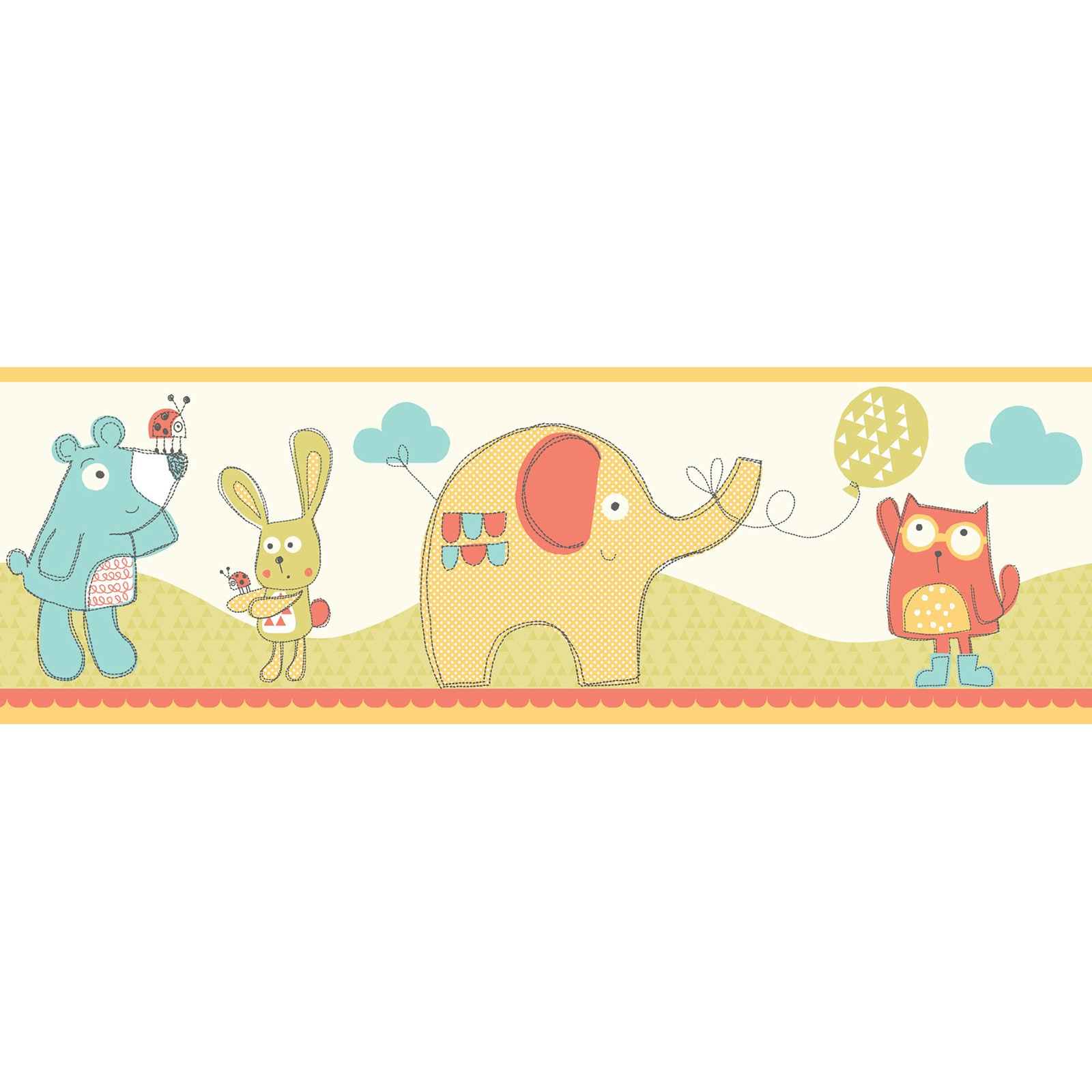Fun4Walls Fly Up High Multi Peel and Stick Border - Set of 2