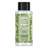 Love Beauty and Planet Radical Refresher Shampoo Sulfate Free Tea Tree Oil and Vetiver, 13.5 oz