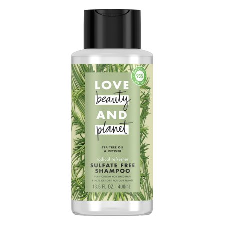 Love Beauty And Planet Radical Refreshner Clarifying Shampoo Tea Tree Oil & Vetiver 13.5 oz ()