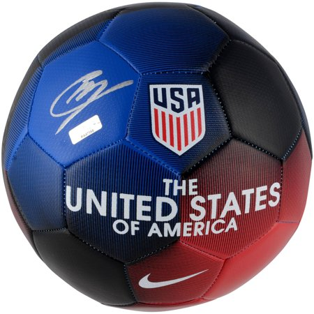 Christian Pulisic USA Autographed Prestige Soccer Ball - Panini Authentic - Fanatics Authentic Certified