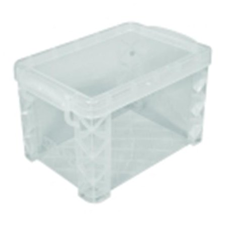 Advantus 4 x 6 in. Plastic File Index Card Holder, Clear](Index Card Storage)