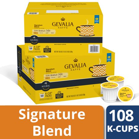 (2 Pack) Gevalia Signature Blend K-cups Coffee Pods, 54 ct Box