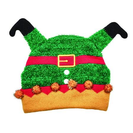 Down Beanie (San Diego Hat Company Kids Knit Upside Down Elf Beanie)