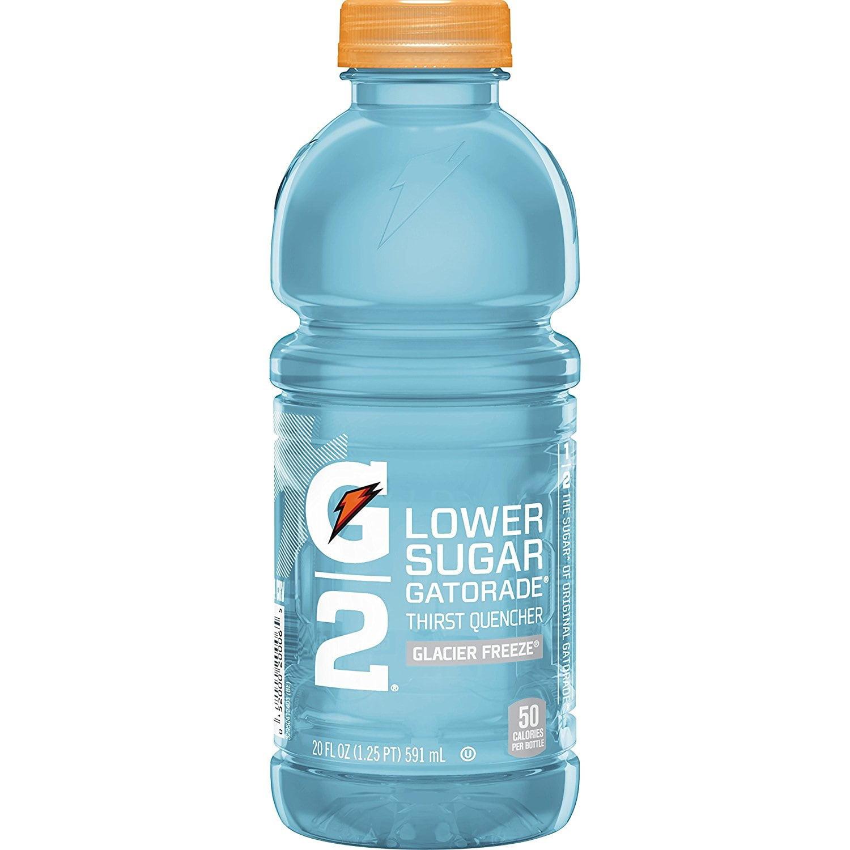 (2 Pack) G2 Lower Sugar Sports Drink, Glacier Freeze, 20 Fl Oz, 12 Ct