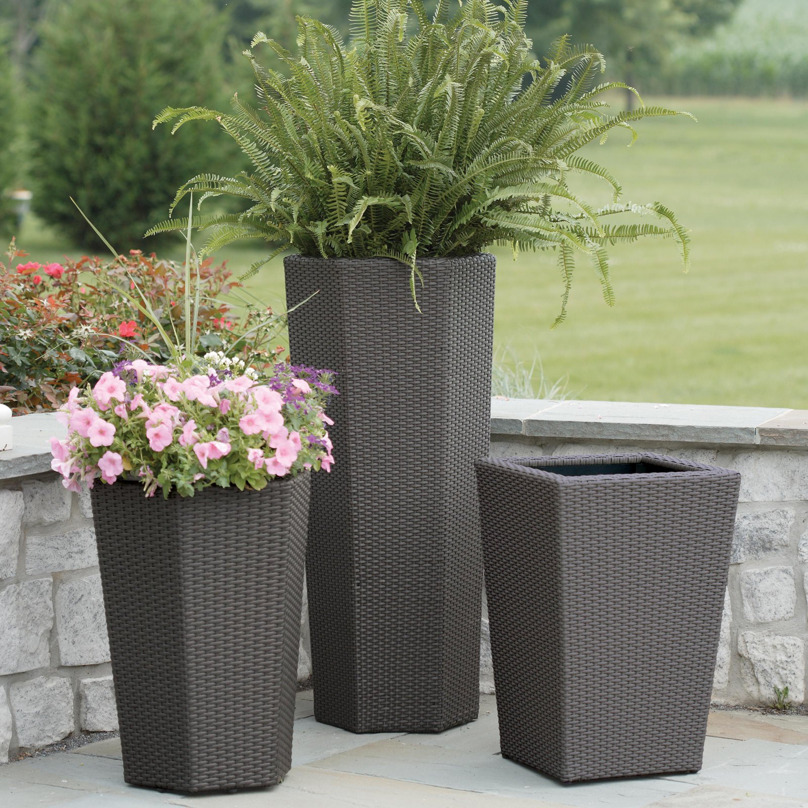 Resin Wicker Vista Planter by DMC Products Inc