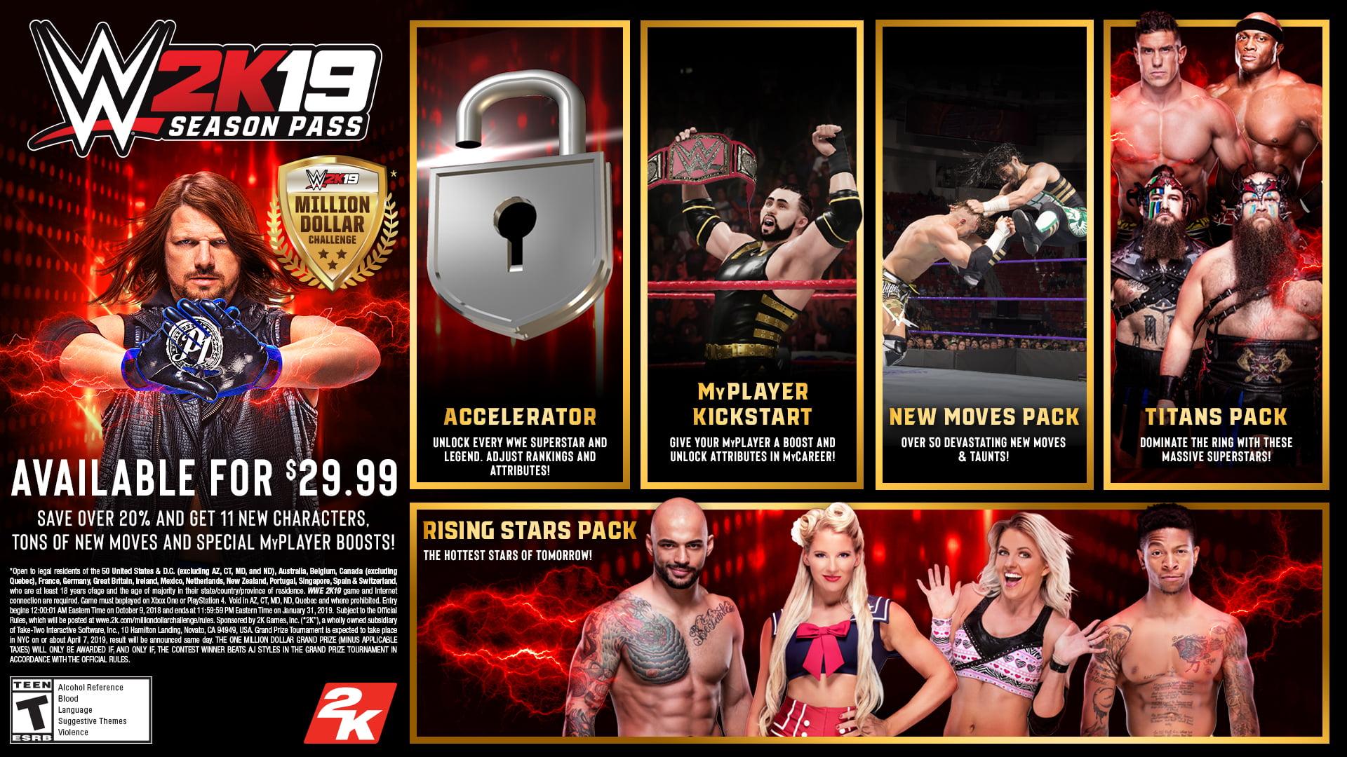 Wwe 2k19 Deluxe Edition 2k Playstation 4 710425570728 Walmart Com Walmart Com