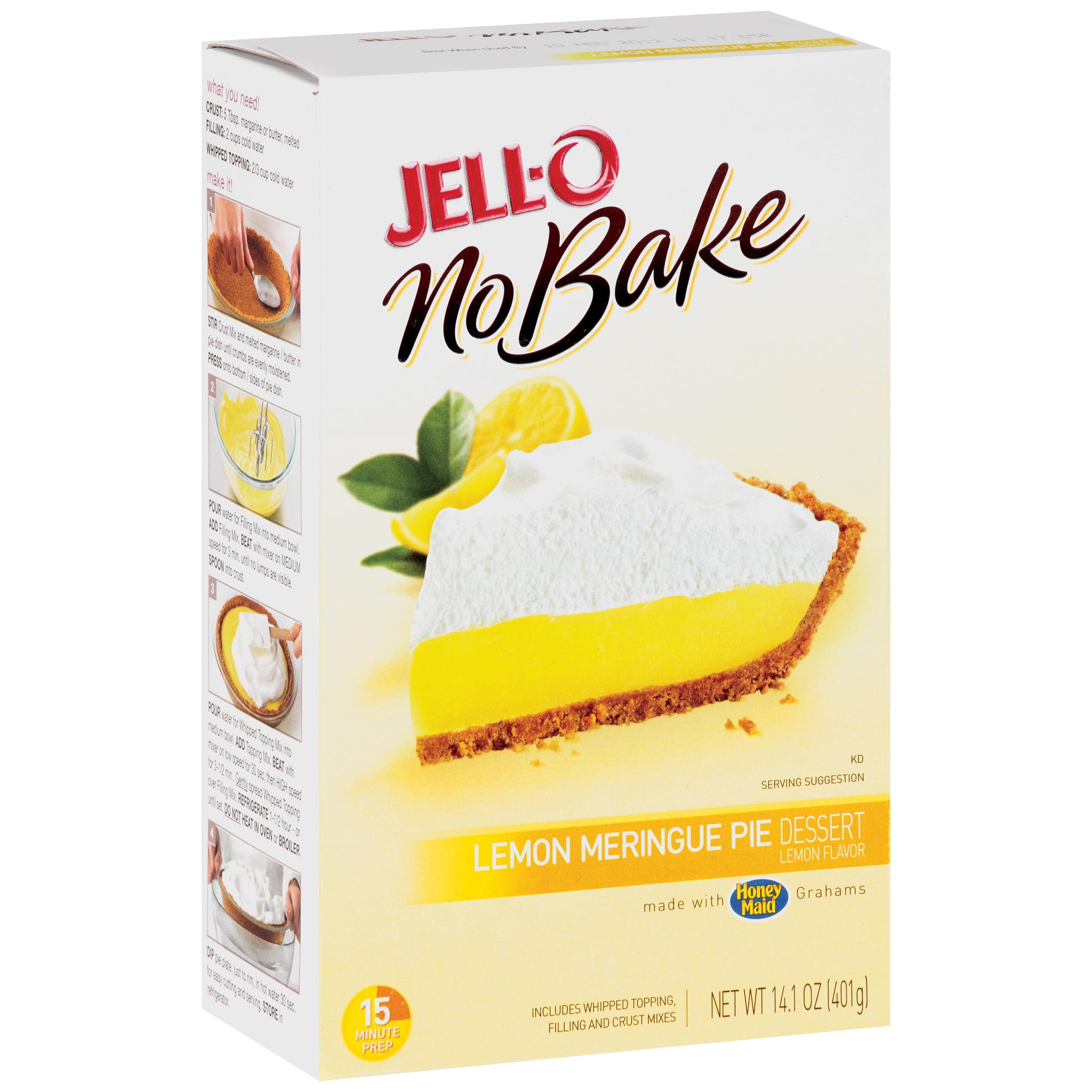 Jell-O No Bake Lemon Meringue Pie Dessert Mix, 14.1 Ounce