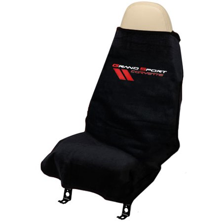 C6 Corvette GRAND SPORT Logo 2005-2013 Seat Armour Seat Cover Towel - Black ()