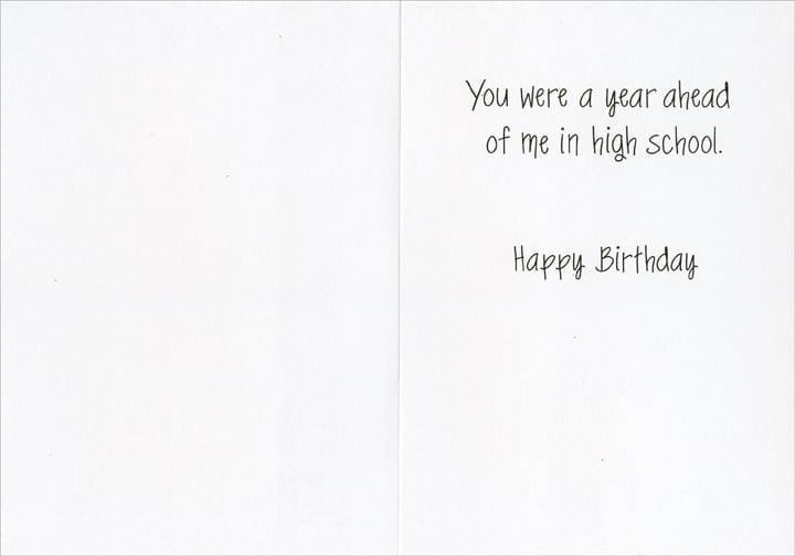 Happy Birthday Footie Fan Paper Salad Birthday Card