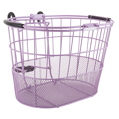 BASKET SUNLT FT WIRE/MESH OVAL L/O STD PU w/BRACKET