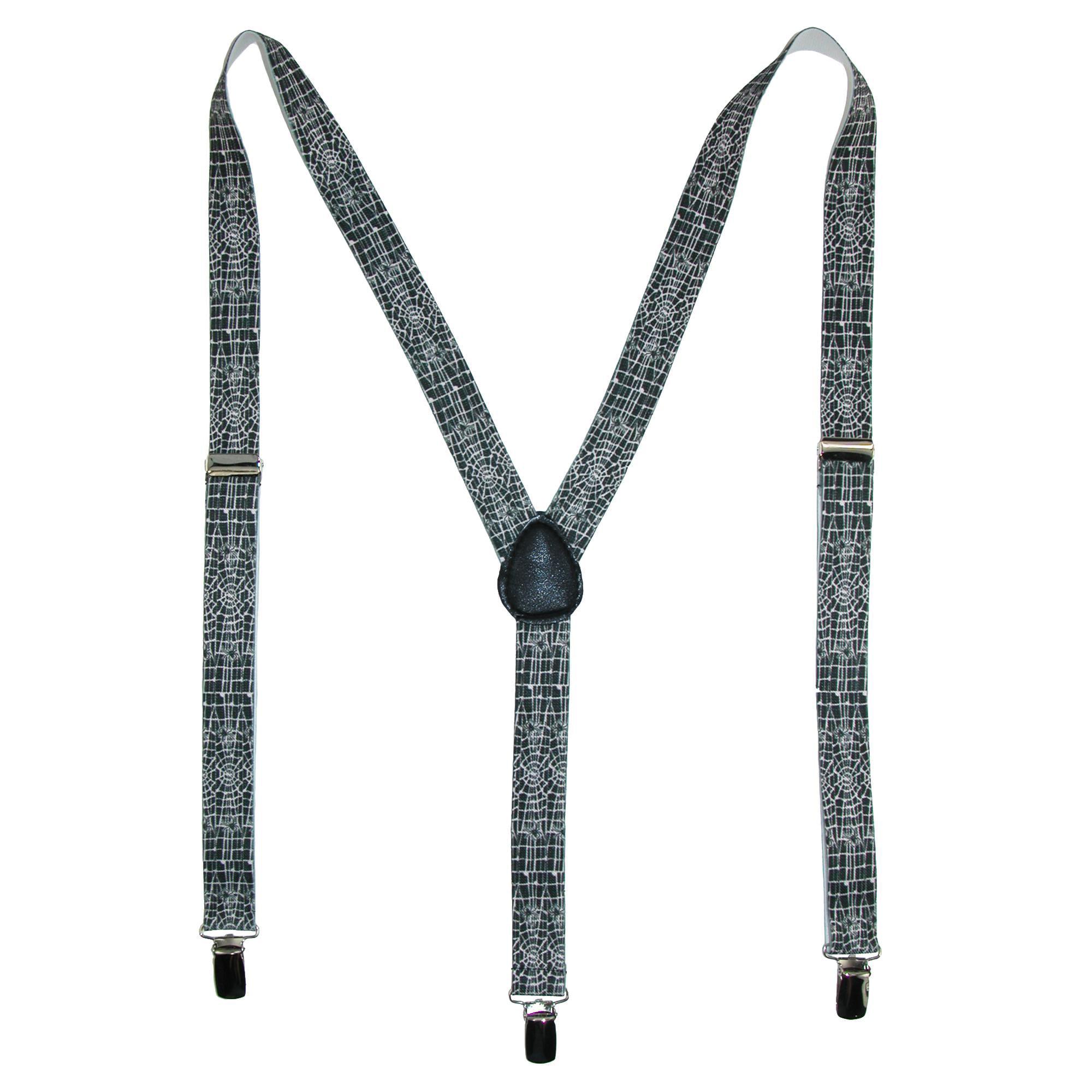 Parquet Elastic Novelty Spider Web Print Suspenders - image 3 of 3