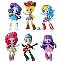 hasbro b8892 - my little pony toy - equestria girls school dance collection - 6 x mini doll playset
