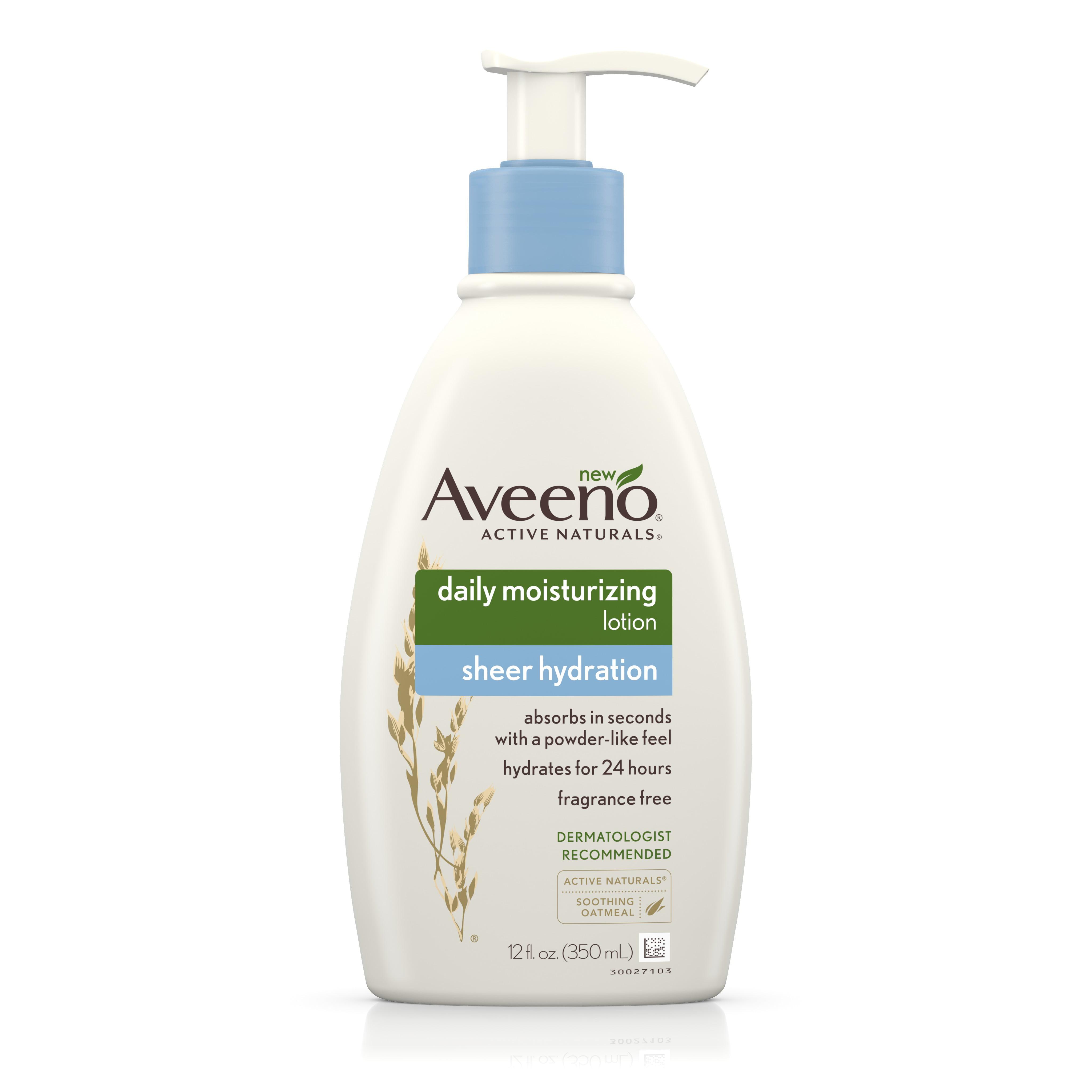 Aveeno Sheer Hydration Daily Moisturizing Lotion, 12 Fl. Oz - Walmart.com