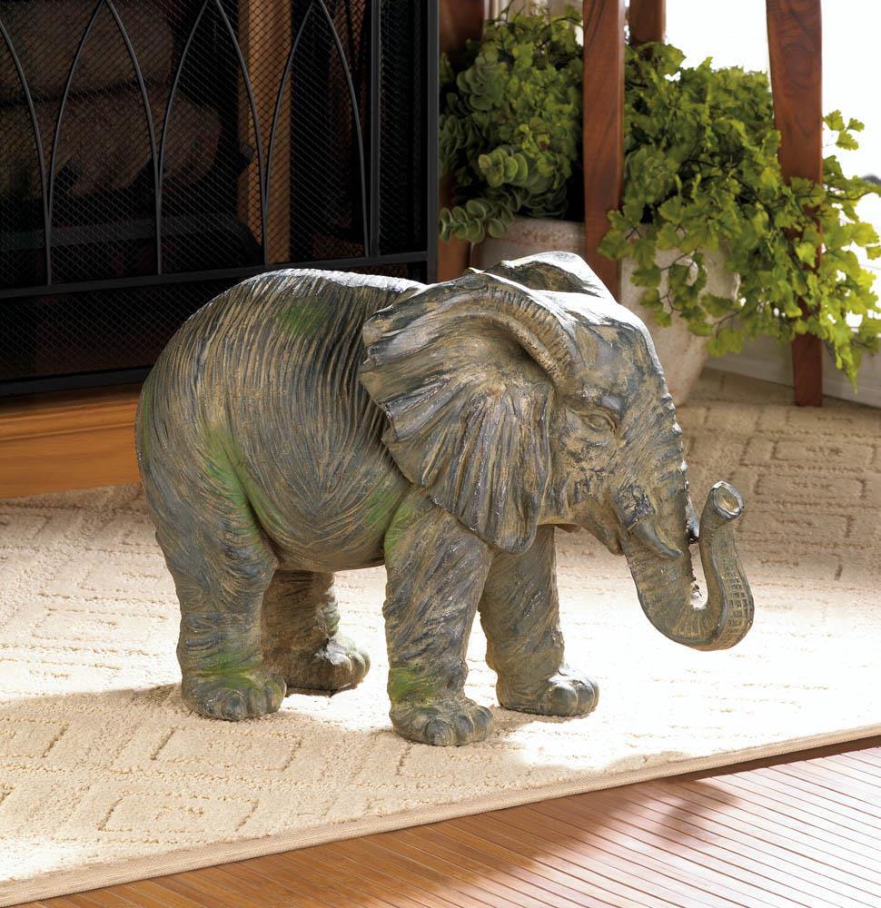 Elephant Statue Home Decor, Iron Elephant Decor , Grey Statue