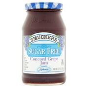 (3 Pack) Smucker's Sugar Free Grape Jam Sweetened With Splenda, 12.75-Ounce Jar