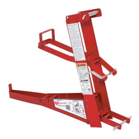 Pump Jack Steel Scaffolding with Toe Boards Attached