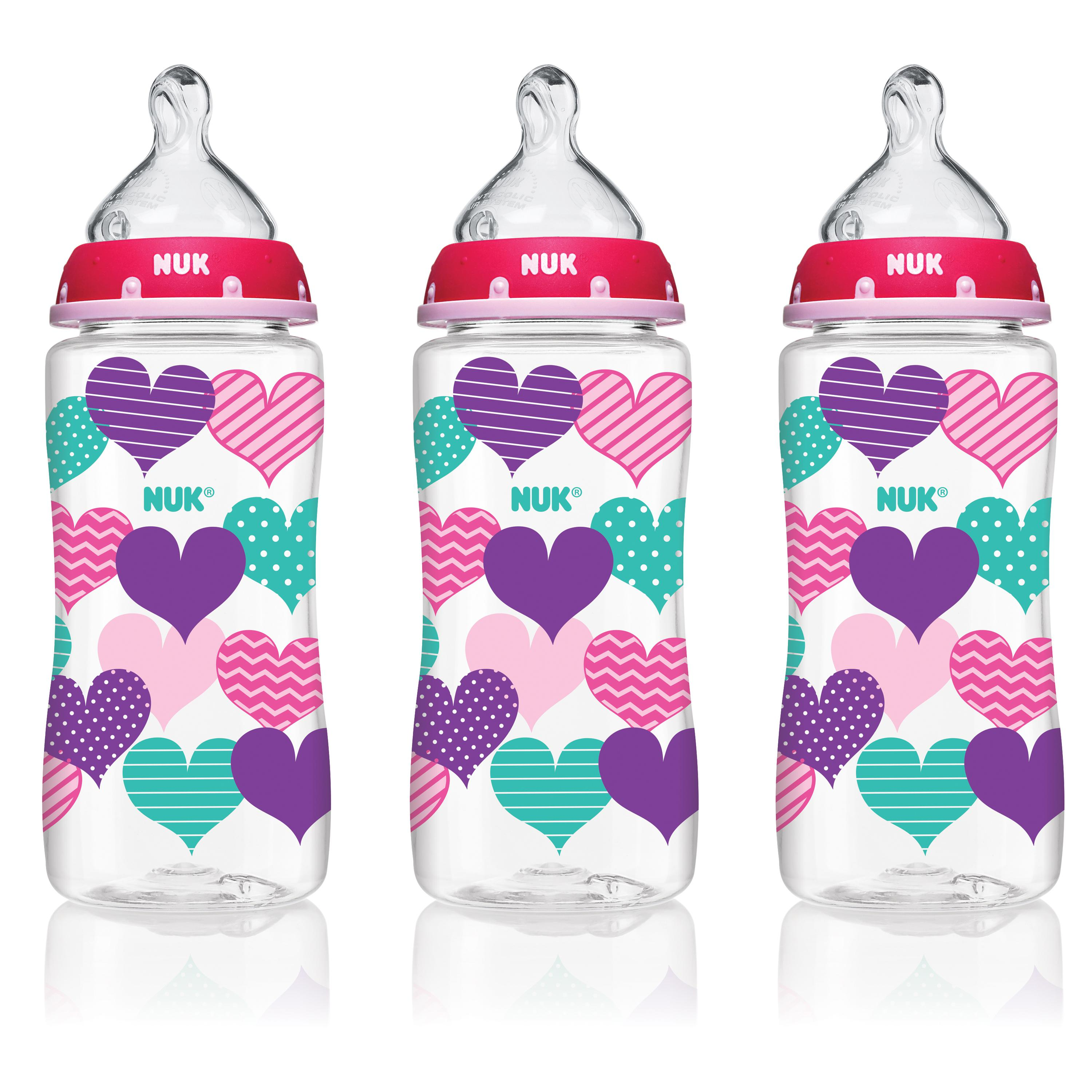 Nuk Wide-Neck Bottles 10 OZ 0+m - 3 CT