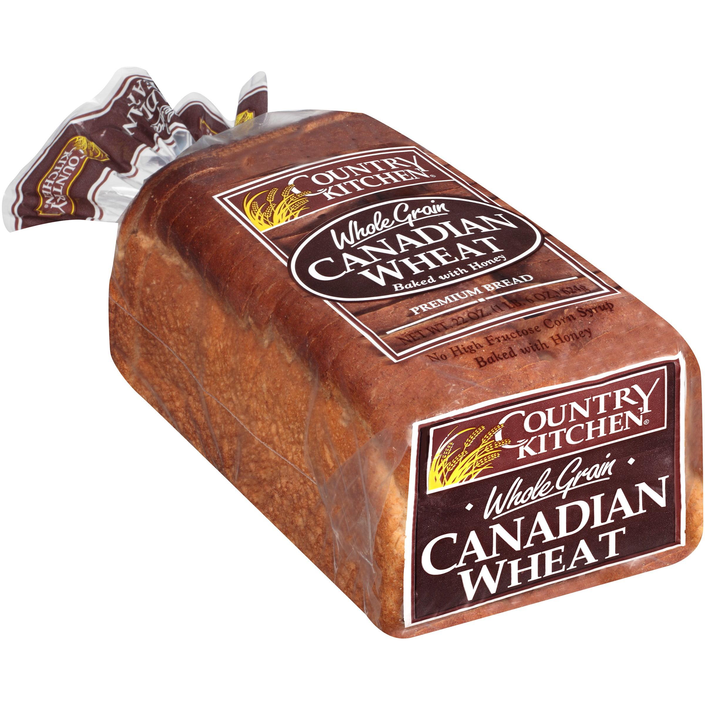 Country Kitchen Whole Grain Canadian Wheat Bread 22 Oz Bag Walmart Com