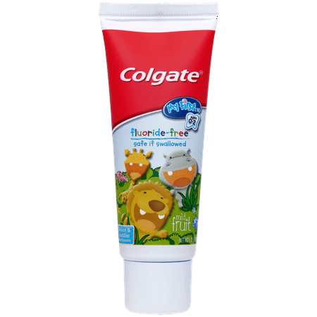 Colgate My First Baby and Toddler Toothpaste, Fluoride Free - 1.75 oz (Vitamin Toothpaste)