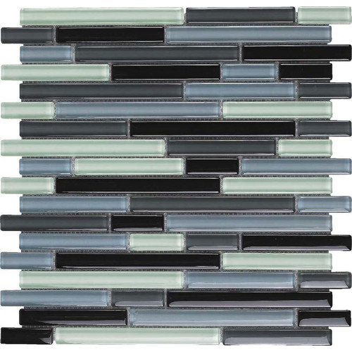 Epoch Architectural Surfaces Color Blends Joven Random Sized Glass Mosaic Tile in Multi