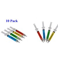 10 Pcs. Surgical Dr. Syringe Ballpoint Ink Pen Liquid Medical Style Novelty Gel Pen25-10