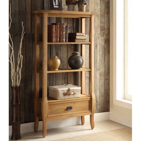 Fantastic Linon Santa Fe Bookcase Antique Brown 1 Drawer 3 Shelves Download Free Architecture Designs Remcamadebymaigaardcom