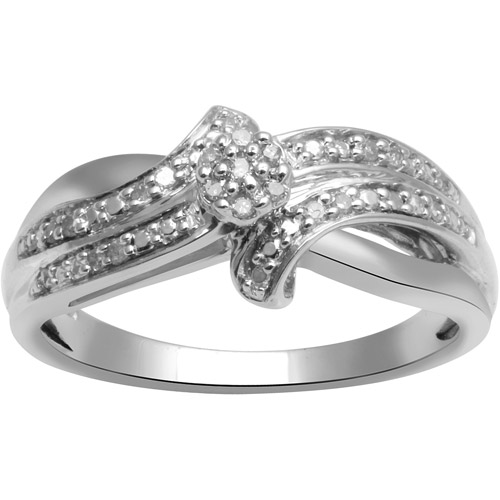 Diamond Accent Sterling Silver Engagement Ring