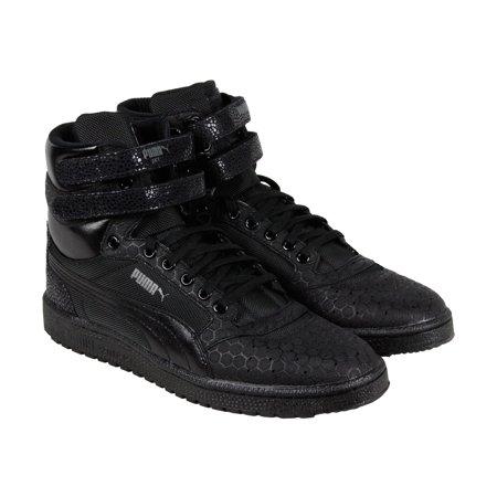 PUMA - Puma Sky II Hi Mono Crackle Mens Black Leather Lace Up Sneakers  Shoes - Walmart.com cdc783e65eb1