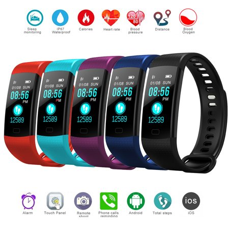 Fitness Tracker with Heart Rate Monitor Color Screen Waterproof Smart Watch Band Activity Tracker w/ Step Counter Pedometer Calorie Counter for Android iOS - image 13 of 13