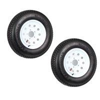2-Pack Trailer Tire Rim ST175/80D13 175/80 B78-13 LRC 5 Lug White Modular Wheel