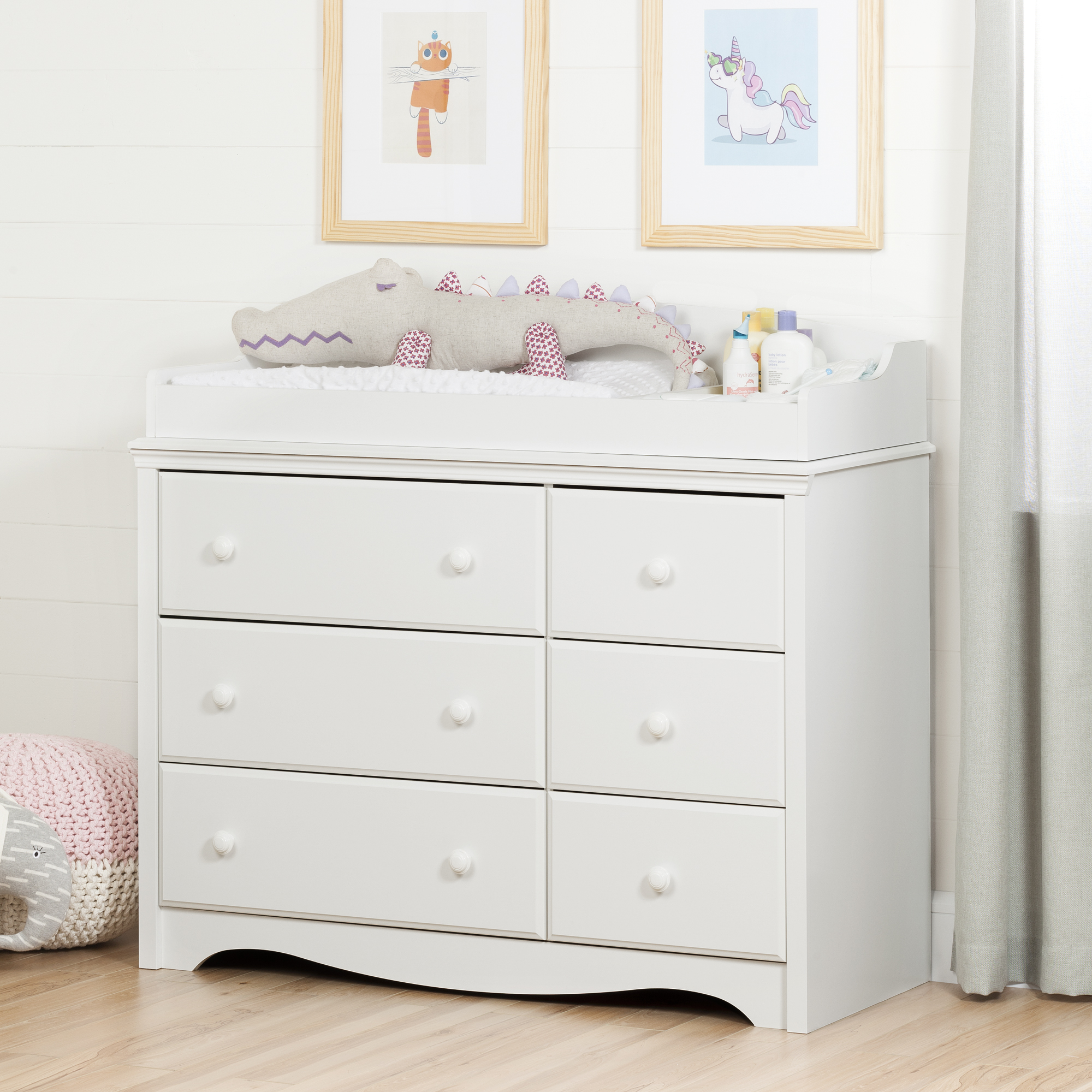 South Shore Angel Changing Table Dresser with 6 Drawers, Multiple Finishes by South Shore Furniture