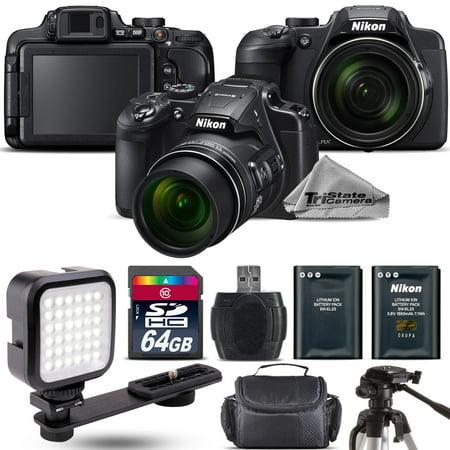 Nikon COOLPIX B700 Digital 20.2MP 4K WiFi NFC Camera 60x Zoom + LED - 64GB Kit