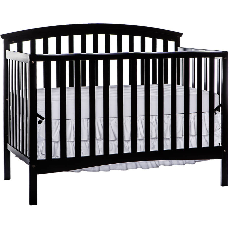Dream On Me Eden 5-in-1 Convertible Crib Black